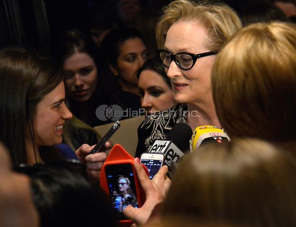 NEW YORK, NY - APRIL 21: Meryl Streep attending the 14th-Annual Monte Cristo Award Dinner at the Edison Ballroom in New York, New York on April 21, 2014. Photo Credit: RTNThompson/MediaPunch