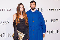 Pepa Salazar and Leandro Cano, designer and finalist of the V edition Vogue Who 's on Next awards.  May 18, 2016. (ALTERPHOTOS/Rodrigo Jimenez) /NortePhoto.com