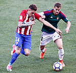 Atletico de Madrid's Jose Maria Gimenez (l) and Club Atletico Osasuna's Goran Causic during La Liga match. April 15,2017. (ALTERPHOTOS/Acero)