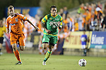 14 September 2013: Tampa Bay's Georgi Hristov (BUL) (10) and Carolina's Kevin Rutkiewicz (SCO) (left). The Carolina RailHawks played the Tampa Bay Rowdies at WakeMed Stadium in Cary, North Carolina in a North American Soccer League Fall 2013 Season regular season game. The game ended in a 2-2 tie.