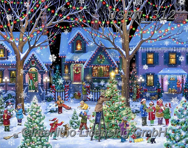 Randy, CHRISTMAS CHILDREN, WEIHNACHTEN KINDER, NAVIDAD NIÑOS, paintings+++++Christmas-House-Decorating-Randy-sm,USRW312,#xk#