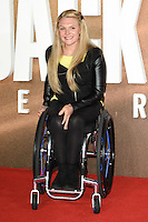 "Jordanne Whiley<br /> at the premiere of ""Jack Reacher: Never Go Back"" at the Cineworld Empire Leicester Square, London.<br /> <br /> <br /> ©Ash Knotek  D3185  20/10/2016"