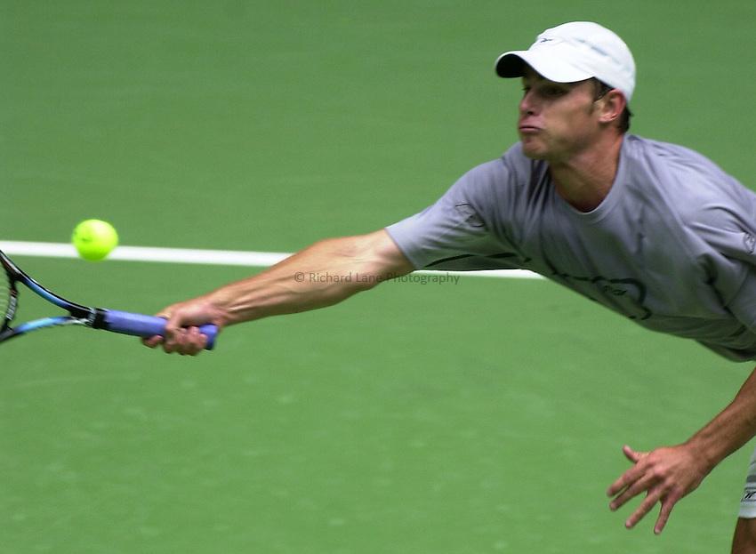 Australian Open Tennis 2003.20/01/2003.Andy Roddick v Mikhail Youzhny .Andy Roddick