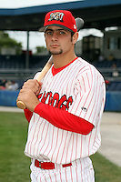 Sept. 5th, 2007:  Pete Kozma of the Batavia Muckdogs, Short-Season Class-A affiliate of the St. Louis Cardinals at Dwyer Stadium in Batavia, NY.  Photo by:  Mike Janes/Four Seam Images