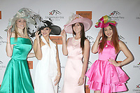 LOS ANGELES - JAN 5:  Derby Prelude Models_Derby Hats at the Unbridled Eve Derby Prelude Party Los Angeles at the Avalon on January 5, 2018 in Los Angeles, CA