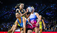 Aliyah Dunn in action during the 2019 ANZ Premiership netball match between the Central Pulse and Southern Steel at TSB Bank Arena in Wellington, New Zealand on Monday, 25 March 2019. Photo: Mike Moran / lintottphoto.co.nz