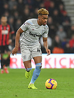 West Ham United's Grady Diangana<br /> <br /> Photographer David Horton/CameraSport<br /> <br /> The Premier League - Bournemouth v West Ham United - Saturday 19 January 2019 - Vitality Stadium - Bournemouth<br /> <br /> World Copyright © 2019 CameraSport. All rights reserved. 43 Linden Ave. Countesthorpe. Leicester. England. LE8 5PG - Tel: +44 (0) 116 277 4147 - admin@camerasport.com - www.camerasport.com