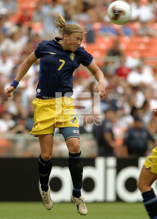 Sara Larsson, 2003 WWC USA Sweden.
