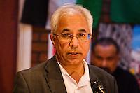 Harsev Bains (CPI(M)) speaking at the Memorial Meeting honouring Godfrey Cremer's life, Saklatvala Hall, Southall, 12th May 2012