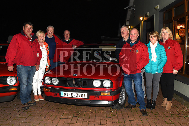 Louis Healy, Ger O'Dea, Fintan O'Dea, Justin Smith, Fran Heary, Dermott Farrelly, Ann Heary, and Linda Healy of Boyne Valley Automobile and Motorcycle Club at the Oscars fancy dress party in Watters of Collon in aid of the Gary Kelly Cancer Support Centre.  Photo:Colin Bell/pressphotos.ie