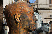 Detail of sculpture, Blue Benares, 1990, by Igor Mitoraj, Seville, Spain, pictured on December 30, 2006, in the afternoon. Polish sculptor Igor Mitoraj (b.1944) takes classical themes and gives them a contemporary twist. His use of fragmented bodies reflects the state of many original classical sculptures. Picture by Manuel Cohen.