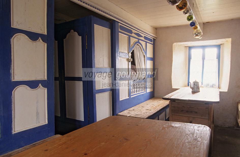 Europe/France/Bretagne/29/Finistère/Ile d'Ouessant: Musée des traditions ouessantines - Détail intérieur