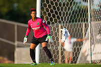 Portland Thorns goalkeeper Karina LeBlanc (1). Sky Blue FC and the Portland Thorns played to a 0-0 tie during a National Women's Soccer League (NWSL) match at Yurcak Field in Piscataway, NJ, on June 22, 2013.