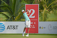 Saud ALSHARIF (KSA) watches his tee shot on 2 during Rd 1 of the Asia-Pacific Amateur Championship, Sentosa Golf Club, Singapore. 10/4/2018.<br /> Picture: Golffile | Ken Murray<br /> <br /> <br /> All photo usage must carry mandatory copyright credit (&copy; Golffile | Ken Murray)