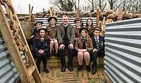 BNPS.co.uk (01202 558833)<br /> Pic: PhilYeomans/BNPS<br /> <br /> Headmaster Keith Grainger is behind the project.<br /> <br /> Students of Garth Hill College in Bracknell get used to life in the trenches.<br /> <br /> Class War - A school has turned part of its playground into a replica First World War trench system that makes an fascinating and poignant living history classroom.<br /> <br /> The scaled down trenches allows pupils to get an authentic, hands-on lesson on what life and conditions were like for the unfortunate soldiers who served on the Western Front. <br /> <br /> As well as being given educational talks, students also get muddy taking part in re-enactment demonstrations in the trenches. <br /> <br /> The attention to detail includes replica rifles, bayonets, shell casings and even models of the ever present rats.<br /> <br /> The outdoor classroom is the first of its kind in the country and schools from miles around are booking up visits for their students to experience the real feel of the award winning movie 1917.