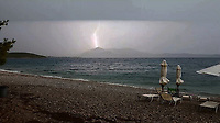 WEATHER PICTURE<br /> A lightning strikes near Aliveri, Evia, Greece. The country has been experiencing recent heatwaves. Thursday 27 July 2017