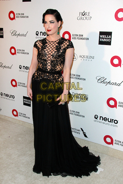 WEST HOLLYWOOD, CA - FEBRUARY 22: Dita Von Teese at the 2015 Elton John AIDS Foundation Oscar Party in West Hollywood, California on February 22, 2015. <br /> CAP/MPI/DC/DE<br /> &copy;DE/DC/MPI/Capital Pictures