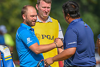 Andy Sullivan (ENG) shakes hands following 2nd round of the 100th PGA Championship at Bellerive Country Club, St. Louis, Missouri. 8/11/2018.<br /> Picture: Golffile | Ken Murray<br /> <br /> All photo usage must carry mandatory copyright credit (© Golffile | Ken Murray)