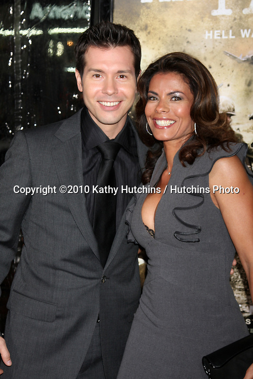 "Jon Seda & Lisa VIdal.arriving at HBO's ""The Pacific"" Premiere Screening .Mann's Chinese Theater.Los Angeles, CA.February 24, 2010.©2010 Kathy Hutchins / Hutchins Photo...."
