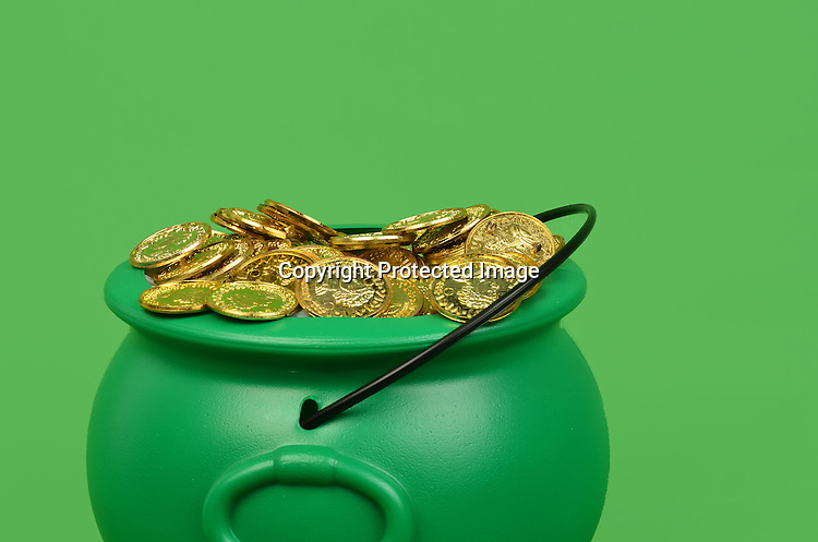 Stock photo of a pot of gold