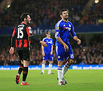 Chelsea's Diego Costa gets booked and looks on dejected<br /> <br /> Barclays Premier League - Chelsea v AFC Bournemouth - Stamford Bridge - England - 5th December 2015 - Picture David Klein/Sportimage