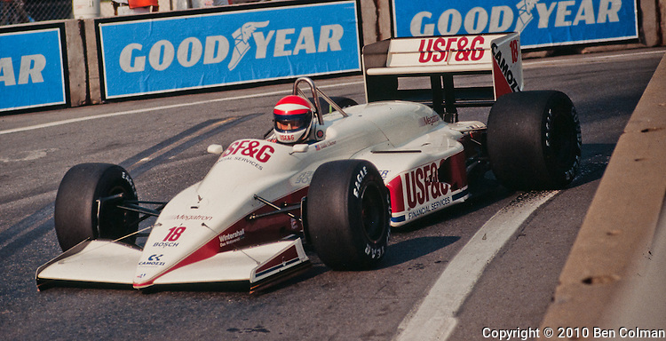 Eddie Cheever,. Arrows A10B, Detroit 1988