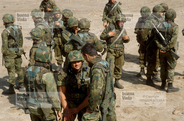 - navy infantry during NATO exercises at CapoTeulada (Sardinia)....- fanteria di marina durante esercitazioni NATO a Capo Teulada (Sardegna)