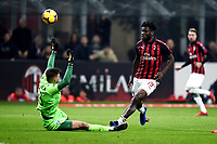 Frank Kessie of AC Milan scores goal of 2-0 <br /> Milano 22-02-2019 Stadio Giuseppe Meazza in an Siro Football Serie A 2018/2019 AC Milan - Empoli <br /> Foto Image Sport / Insidefoto