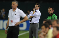 DC United head coach Curt Onalfo.  DC United defeated AC. Milan 3-2 at RFK Stadium, Wednesday May 26, 2010.