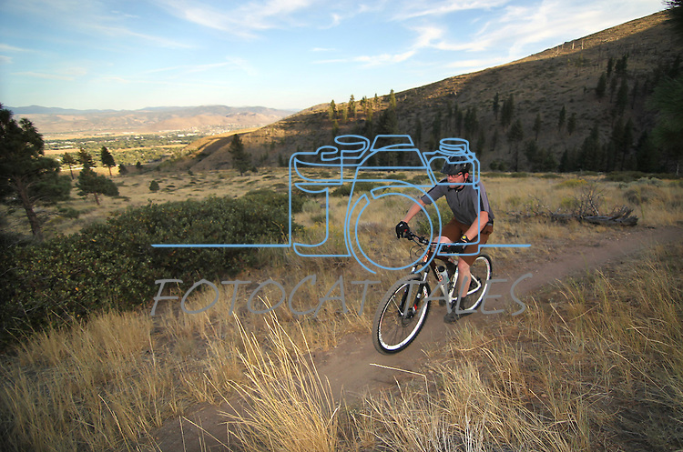 Biking the Ash Canyon trails in Carson City, Nev., on Friday, Sept. 14, 2012..Photo by Cathleen Allison