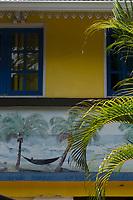 France, île de la Réunion, Saint Joseph, Manapany les Bains, détail case  // France, Ile de la Reunion (French overseas department), Saint Joseph, Manapany les Bains: retail creole house