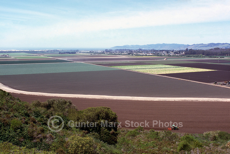 Overlooking Agricultural Fields near Arroyo Grande, California, USA