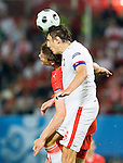 Jacek Bak and Sebastian Prödl at Euro 2008 Austria-Poland 06122008, Wien, Austria