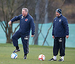Ally McCoist and Kenny McDowall having a laugh