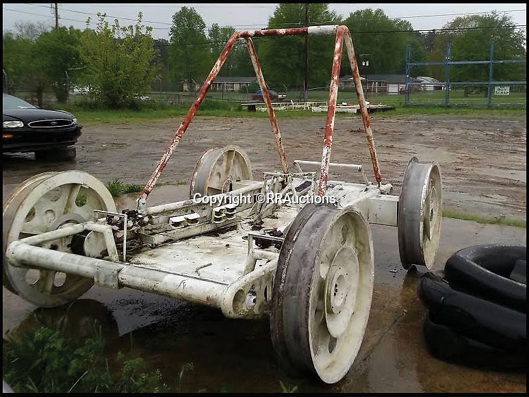 BNPS.co.uk (01202 558833)<br /> Pic: RRAuctions/BNPS<br /> <br /> One small step for a bidder, one giant leap for his mechanic...<br /> <br /> In the 60's it would have been a top secret part of NASA's $25 billion Apollo space program - but today this prototype Lunar Rover has been discovered languishing in a scrap yard in deepest Alabama. <br /> <br /> The vehicle was part of the development program for the Lunar Rover that eventually reached the moon on Apollo 15 in 1972,<br /> <br /> But despite becomindg a rusty footnote to space history the spartan vehicle still retains an astronomical &pound;110,000 auction estimate.<br /> <br /> RR Auctions - 21st April - &pound;110,000 est