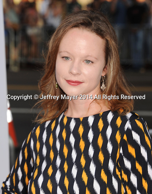 HOLLYWOOD, CA- JUNE 30: Actress Thora Birch arrives at the 'Tammy' - Los Angeles Premiere at TCL Chinese Theatre on June 30, 2014 in Hollywood, California.