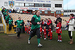 The Ireland players run on to the pitch.<br /> 6 Nations Championship<br /> Wales v Ireland Women<br /> St Helens Swansea<br /> 15.03.15<br /> ©Steve Pope - SPORTINGWALES