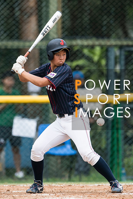 #3 Ono Ayumi of Japan bats during the BFA Women's Baseball Asian Cup match between South Korea and Japan at Sai Tso Wan Recreation Ground on September 2, 2017 in Hong Kong. Photo by Marcio Rodrigo Machado / Power Sport Images