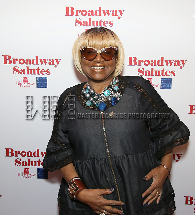 Irene Gandy attends The Broadway League and the Coalition of Broadway Unions and Guilds (COBUG) presents the 9th Annual Broadway Salutes at Sardi's on November , 2017 in New York City.