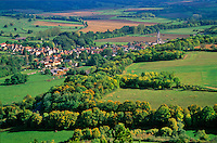 Village of St. Pere in French countryside, Cure Valley, near Vezelay, Burgundy, France, AGPix_0363.