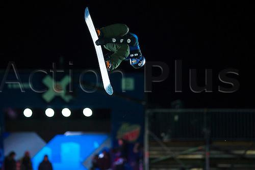 27.02.2016. Toyen, Big Jump Oslo, Norway.  Red Bull X Games Oslo 2016. Men's Snowboard Big Air Final. Torgeir Bergrem of Norway in action during the men's Snowboard Big Air Final at the Red Bull X Games Oslo 2016 in Toyen Big Jump  Oslo, Norway.