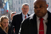 New York City Mayor Bill de Blasio arrives to the Capital Hilton Hotel in Washington D.C., U.S., on Wednesday, January 22, 2020 to deliver remarks at the United States Conference of Mayors 88th Winter Meeting.<br /> <br /> Credit: Stefani Reynolds / CNP<br /> (RESTRICTION: NO New York or New Jersey Newspapers or newspapers within a 75 mile radius of New York City)
