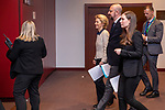 BRUSSELS - BELGIUM - 13 December 2019 -- EU-Summit with Heads of State - European Council meeting - Presidency of Finland. -- Sanna Marin (ri), Prime Minister of Finland, Charles Michel, President of the European Council and Ursula von Der Leyen, President of the European Commission on their way to the press conference  -- PHOTO: Juha ROININEN / EUP-IMAGES