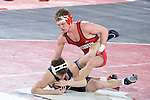 MADISON, WI - JANUARY 19: Tyler Turner of the Wisconsin Badgers wrestling team against the Penn State Nittany Lions at the Field House on January 19, 2007 in Madison, Wisconsin. The Badgers beat the Nittany Lions 17-16. (Photo by David Stluka)