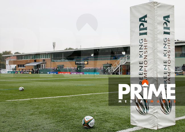Another view of the Ealing Trailfinders RFC's main stand during the Greene King IPA Championship match between Ealing Trailfinders and Bedford Blues at Castle Bar , West Ealing , England  on 29 October 2016. Photo by Carlton Myrie / PRiME Media