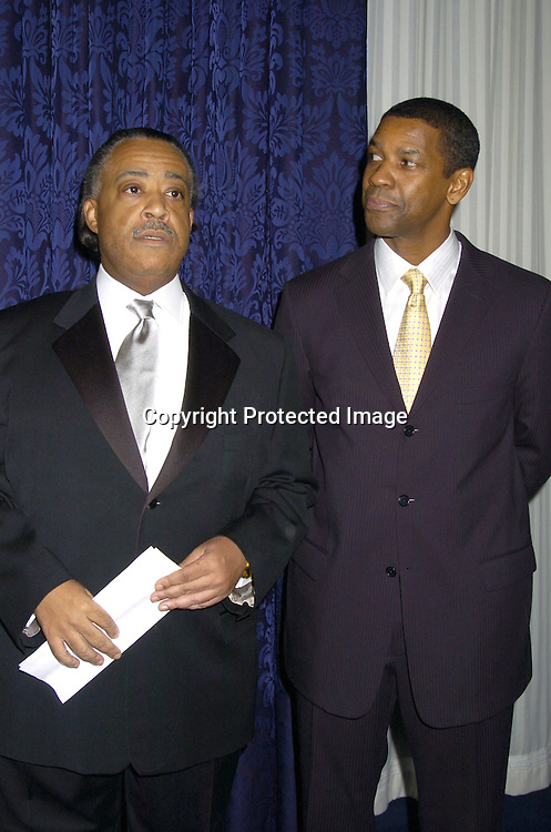 Al Sharpton and Denzel Washington