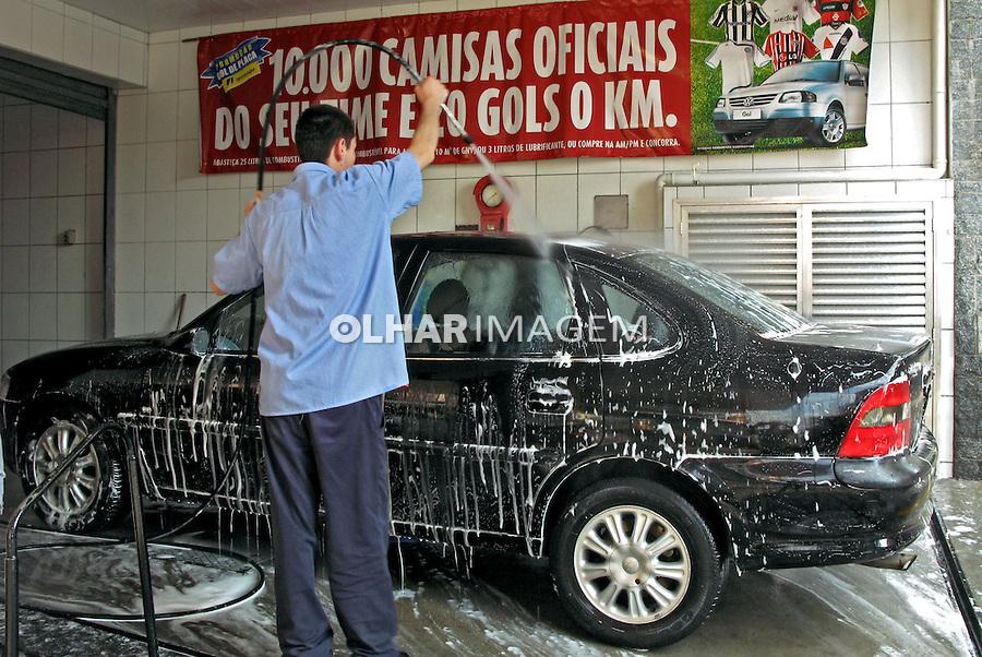 Lavagem de carro. SP. 2008. Foto Juca Martins