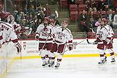 Seb Lloyd (Harvard - 15) - The Harvard University Crimson defeated the visiting Colgate University Raiders 7-4 (EN) on Saturday, February 20, 2016, at Bright-Landry Hockey Center in Boston, Massachusetts,