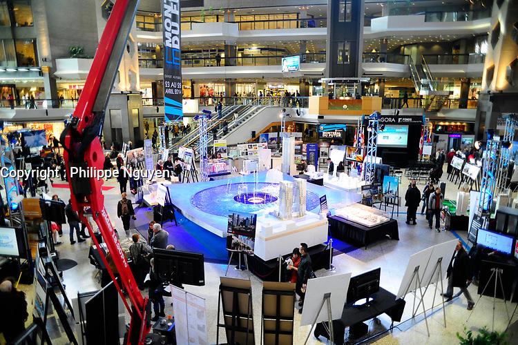 Montreal du futur exhibit , Complexe Desjardins, on April 25, 2014.<br /> <br /> File Photo : Agence Quebec Presse   -  Philippe Nguyen