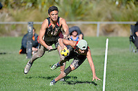Action from the Ki o rahi Nationals at Te Whiti Park, Lower Hutt, New Zealand on Wednesday 30 April 2014.<br /> Photo by Masanori Udagawa. <br /> www.photowellington.photoshelter.com.